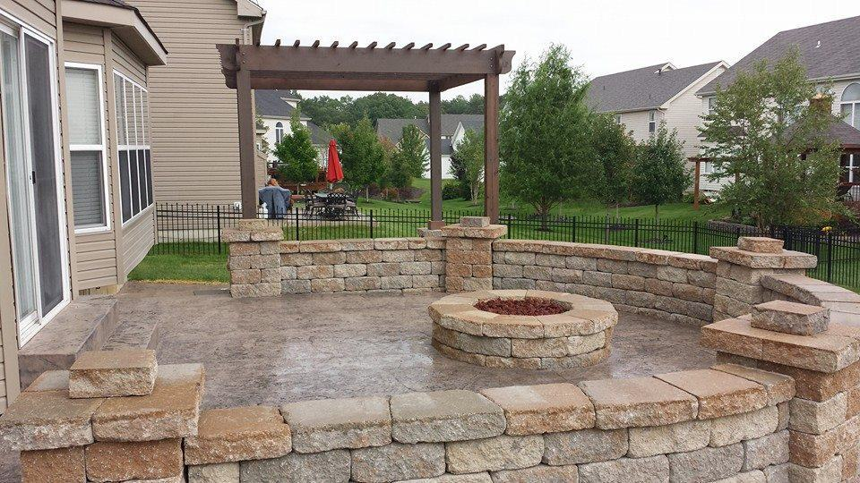 retaining walls and patio construction