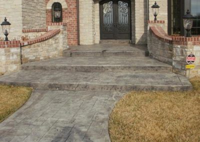 Stamped Concrete Walkways and Steps