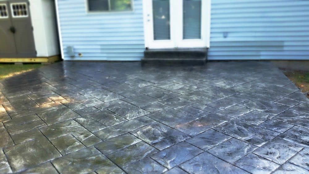 Ashlar slate stamped patio saint peters mo
