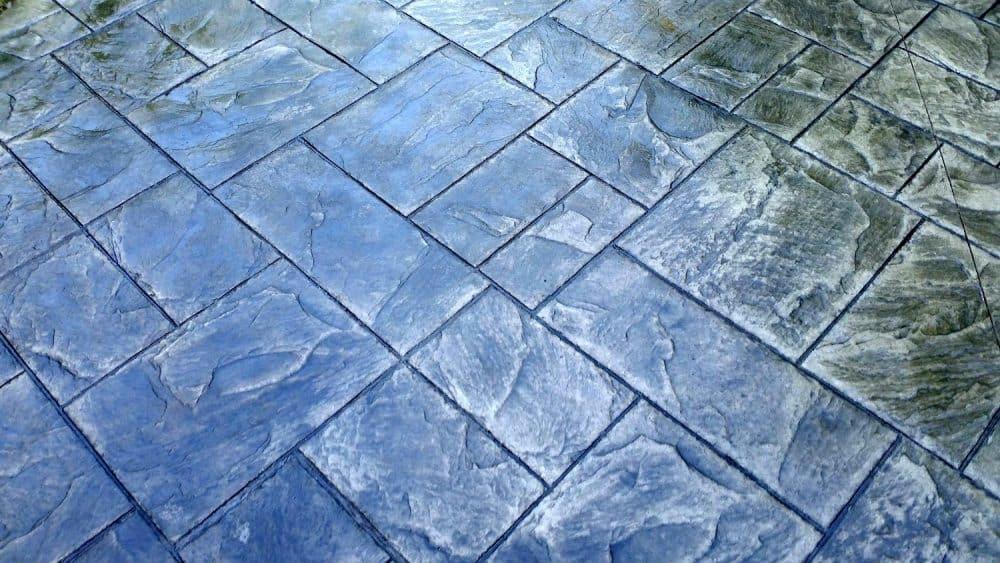 ashlar slate stamped patio st peters mo close up view