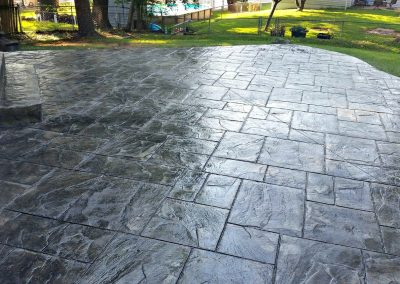 ashlar slate stamped patio st peters mo pov house