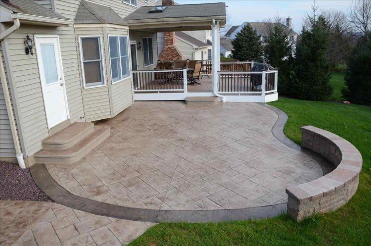 stamped cement patio