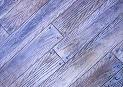 Boardwalk 6 inch wood plank concrete stamp