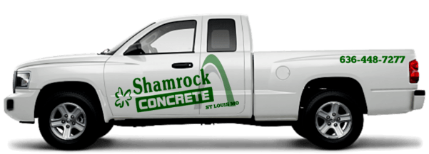 image of St Louis Shamrock Concrete Truck With Logo Wrapper