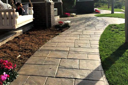 stamped concrete walkways sidewalks