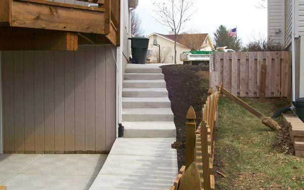 concrete services walkways steps