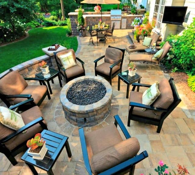 Outdoor living custom patio design