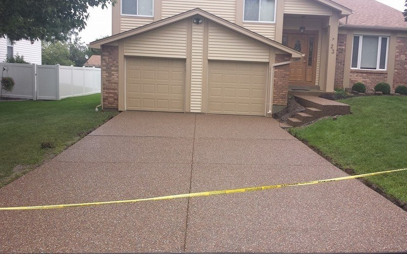 exposed aggregate concrete driveway (19)