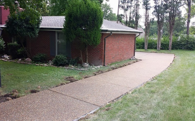 exposed aggregate concrete driveway (21)