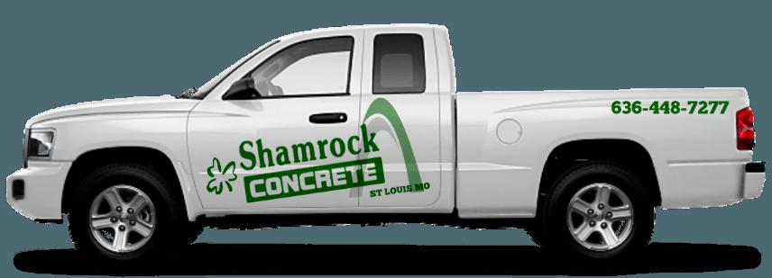 shamrock concrete company st louis mo truck logo