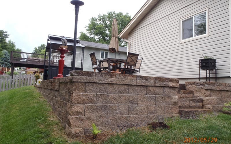 retaining walls (119)