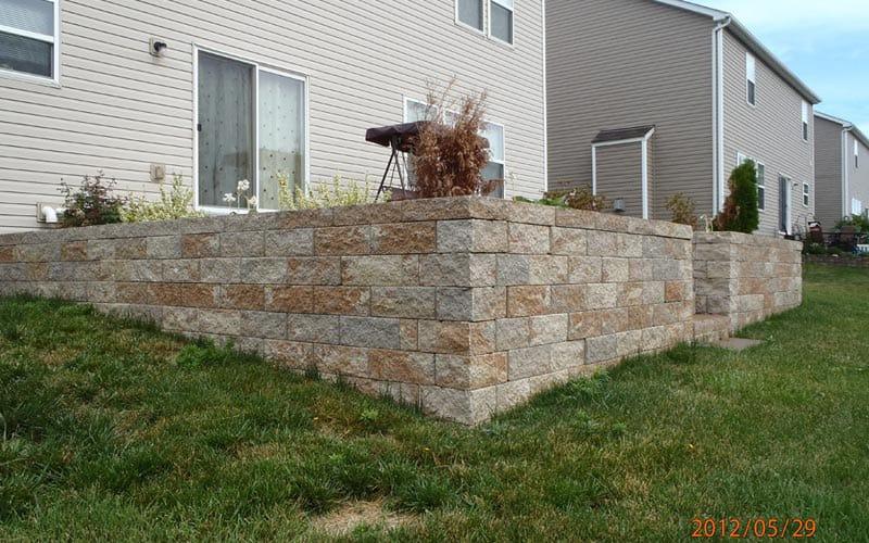 retaining walls (125)