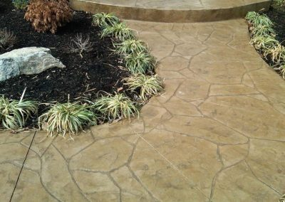 Stamped Concrete Walkway Curved