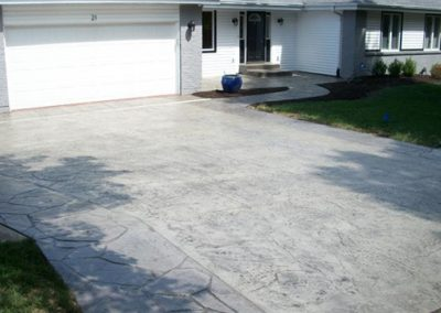 grey  stamped driveway