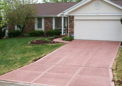 stamped concrete driveway customer