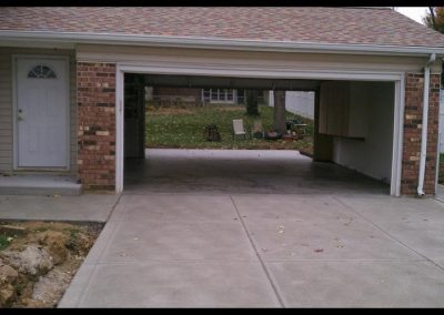 New concrete driveway st charles
