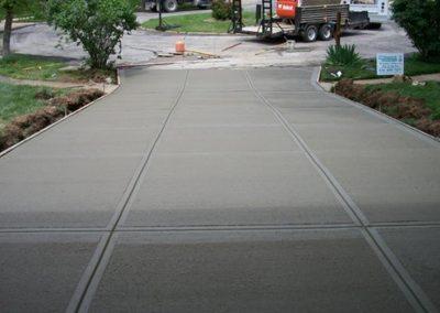 concrete driveway steep 67-2