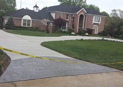 driveway project with stamped concrete ballwin mo