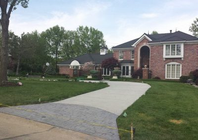 driveway project with stamped concrete st louis mo