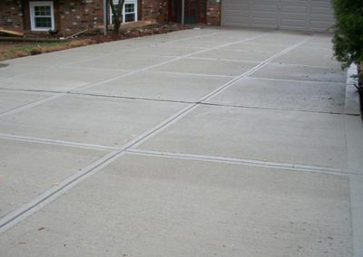 new concrete driveway enlargement