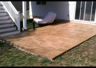 small concrete patio stamp