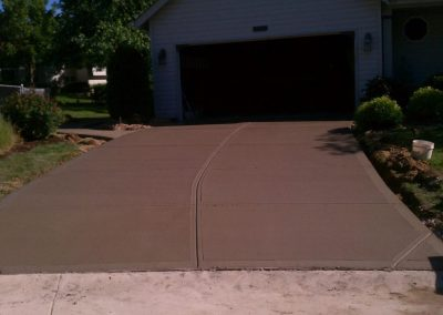 stamped concrete driveway colored