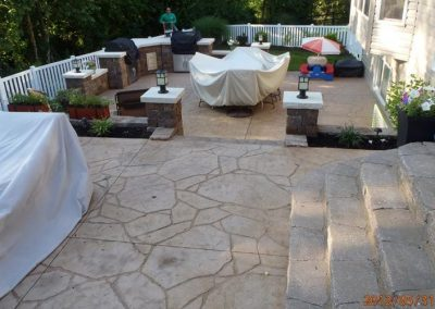 stamped concrete patio tiered 103 2