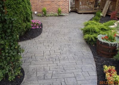 Stamped Concrete Walkways & Sidewalks