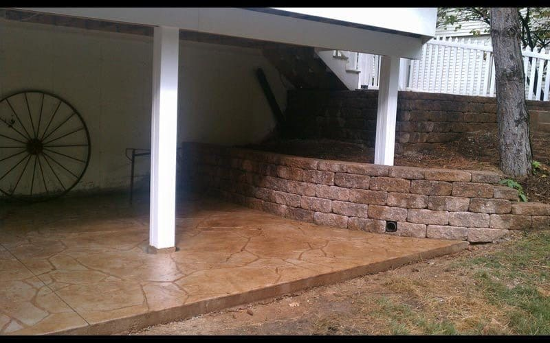 stamped patio 116