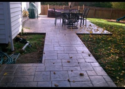 stamped patio and walkway