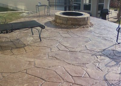 stamped patio brick stone firepit 24 3