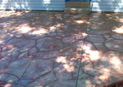 stamped patio just finished