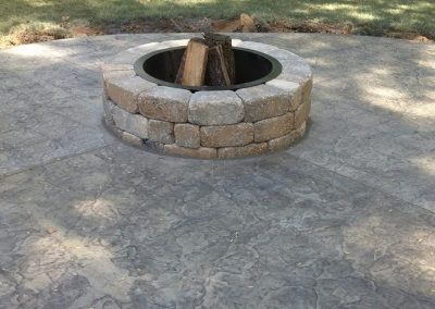 stamped patio outdoor firepit 26 3