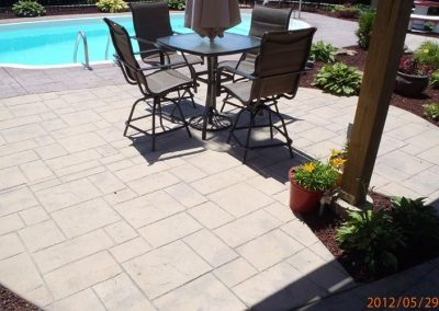 stamped patio pool deck