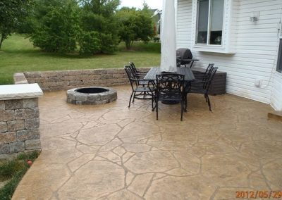 stamped patio shamrock concrete 12 3